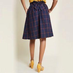 ModCloth | Plaid Refined Timing A Line Skirt